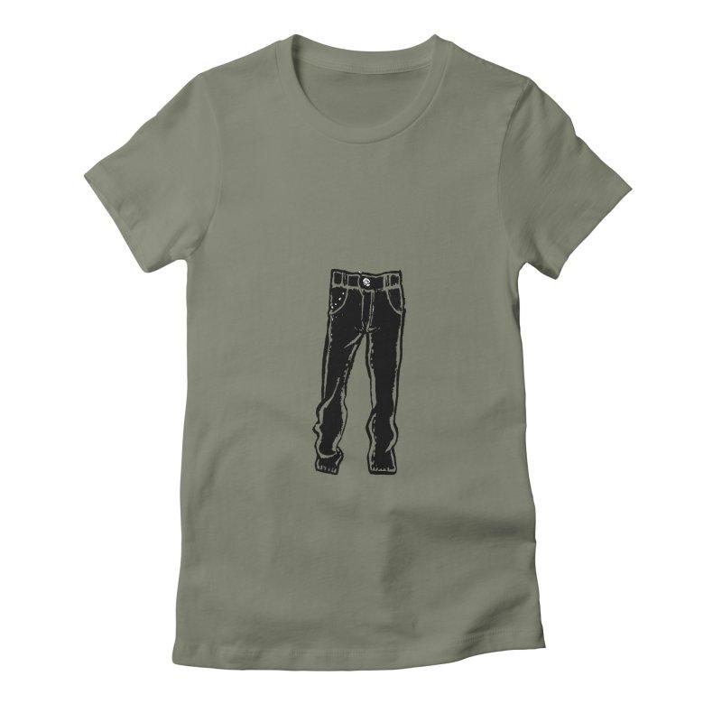 Dark Pants Women's Fitted T-Shirt by Matt MacFarland