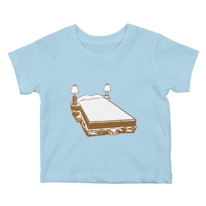 Sandwich Bed Kids Baby T-Shirt by Matt MacFarland