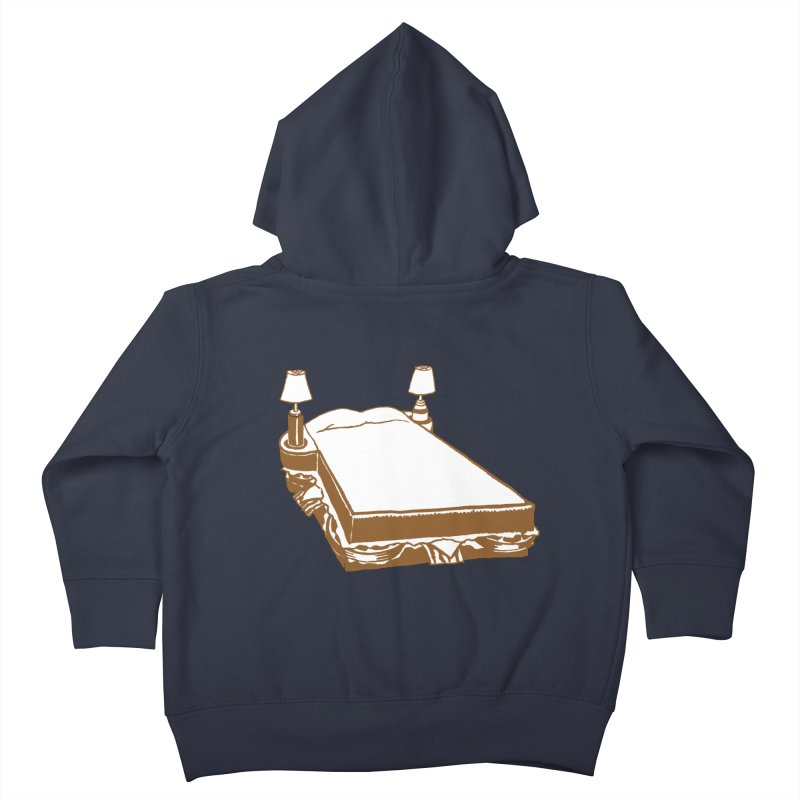 Sandwich Bed Kids Toddler Zip-Up Hoody by Matt MacFarland