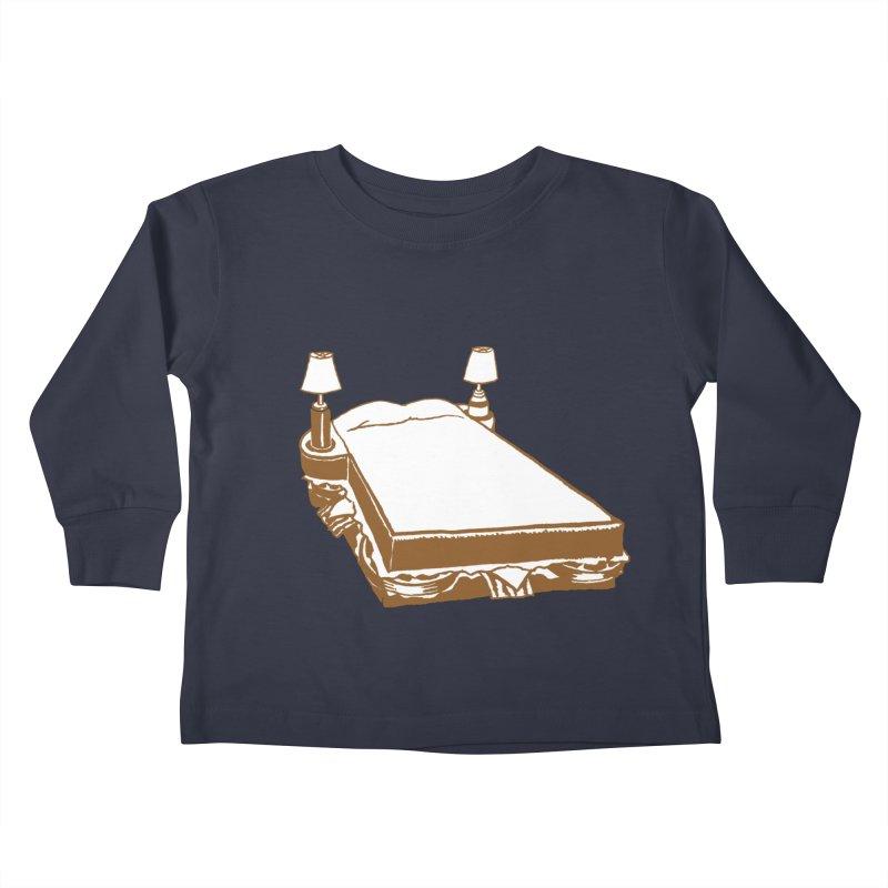 Sandwich Bed Kids Toddler Longsleeve T-Shirt by Matt MacFarland