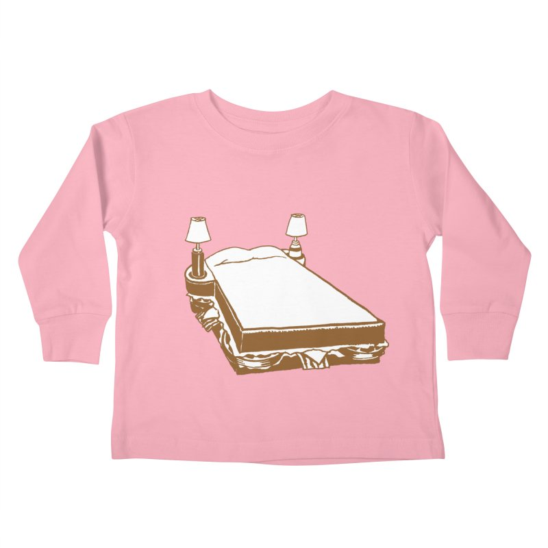 Sandwich Bed Kids Toddler Longsleeve T-Shirt by Matt MacFarland