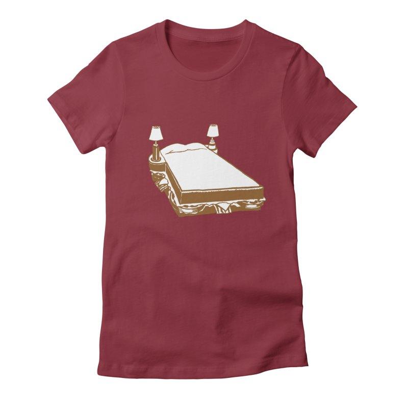 Sandwich Bed Women's Fitted T-Shirt by Matt MacFarland