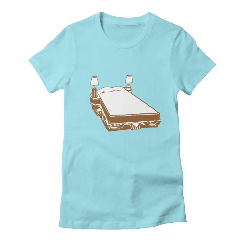 Sandwich Bed Women's Fitted T-Shirt by mattiemac's Artist Shop