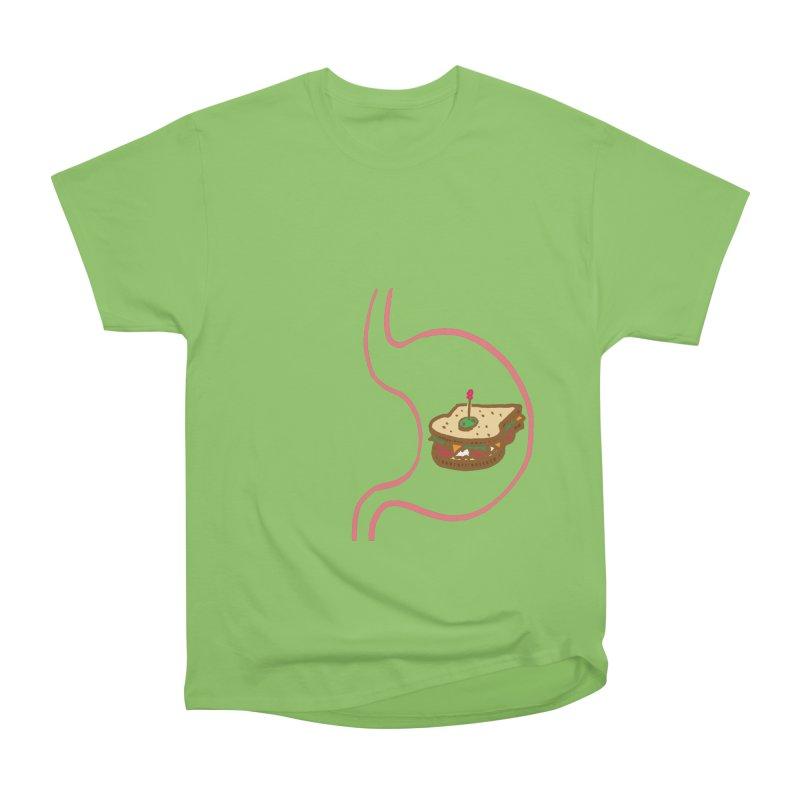 Sandwich in Stomach Women's Heavyweight Unisex T-Shirt by Matt MacFarland