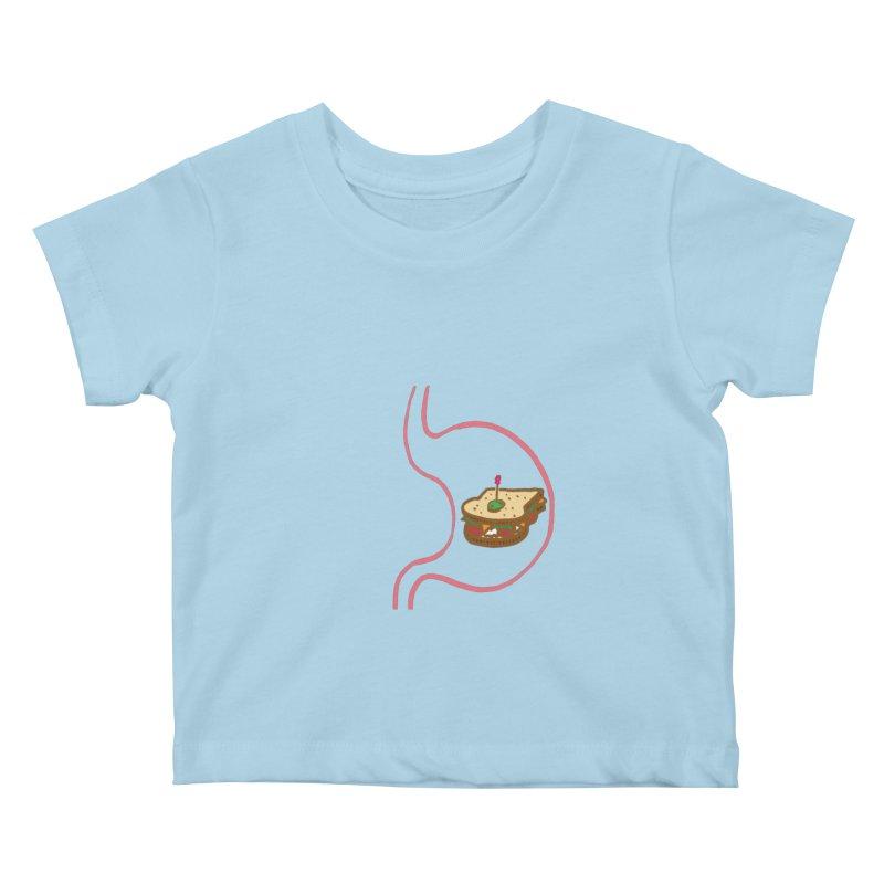 Sandwich in Stomach Kids Baby T-Shirt by Matt MacFarland