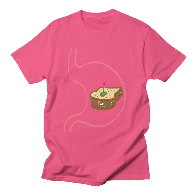 Sandwich in Stomach Men's T-Shirt by Matt MacFarland