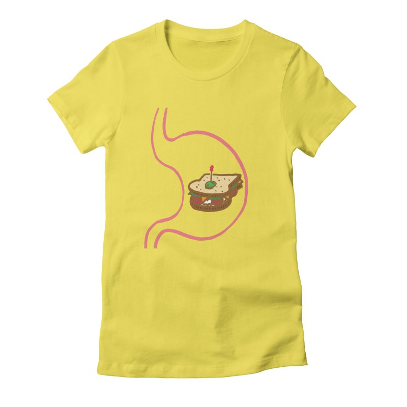 Sandwich in Stomach Women's T-Shirt by Matt MacFarland