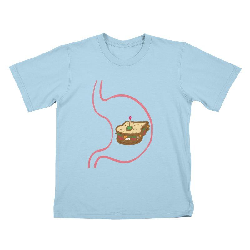 Sandwich in Stomach Kids T-Shirt by Matt MacFarland