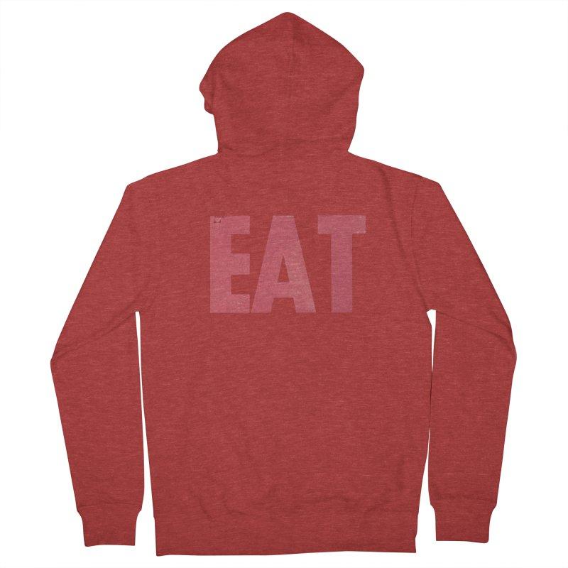 EAT Men's French Terry Zip-Up Hoody by mattiemac's Artist Shop