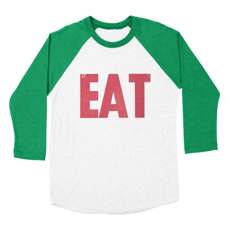 EAT Women's Baseball Triblend Longsleeve T-Shirt by Matt MacFarland