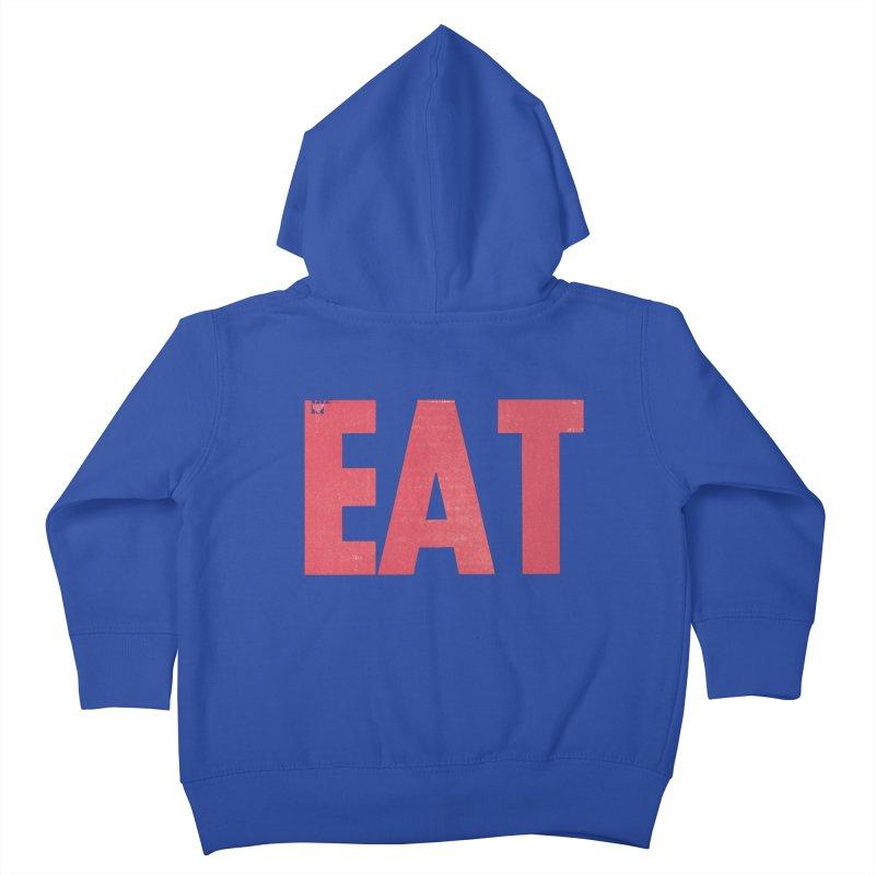 EAT Kids Toddler Zip-Up Hoody by mattiemac's Artist Shop