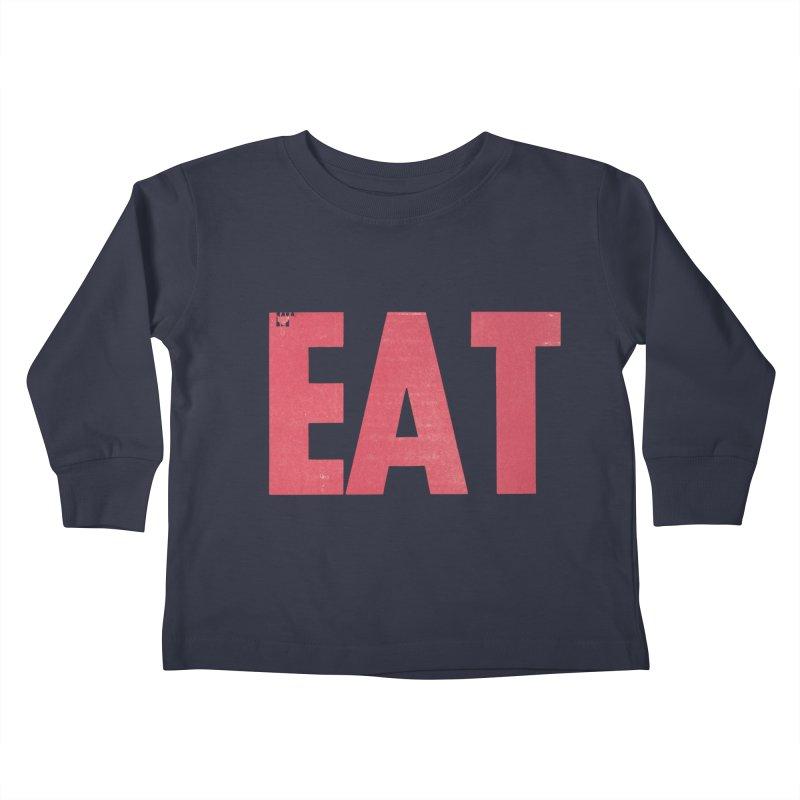 EAT Kids Toddler Longsleeve T-Shirt by Matt MacFarland