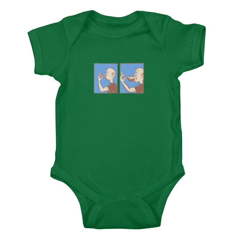 Reverse Consumption Kids Baby Bodysuit by Matt MacFarland