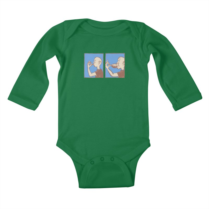 Reverse Consumption Kids Baby Longsleeve Bodysuit by mattiemac's Artist Shop