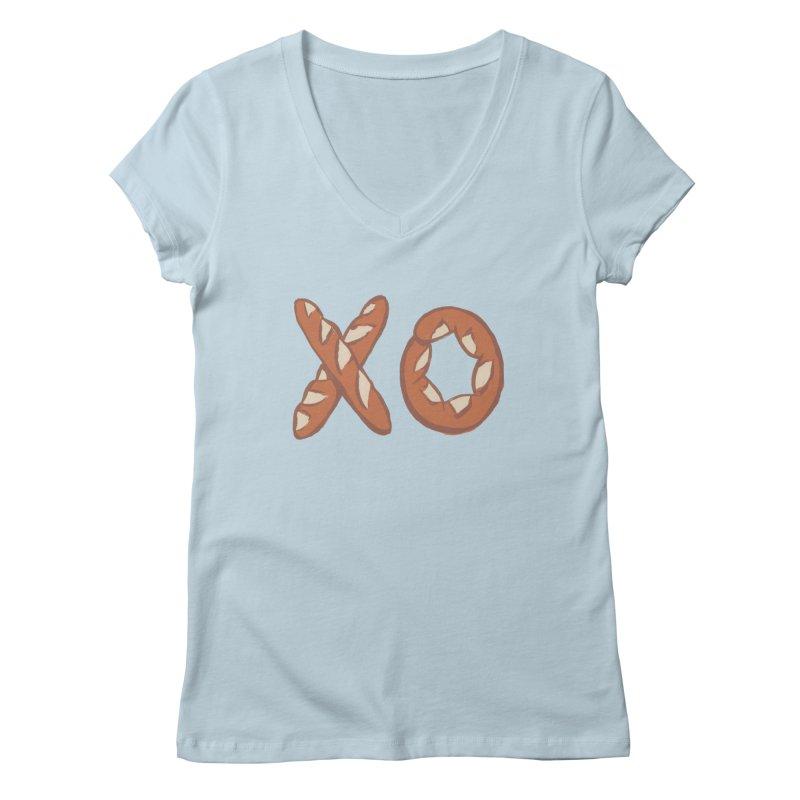XO Women's Regular V-Neck by mattiemac's Artist Shop