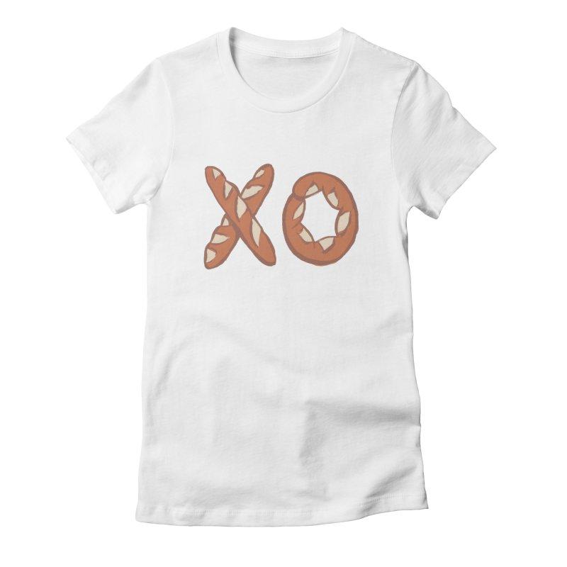 XO Women's Fitted T-Shirt by mattiemac's Artist Shop
