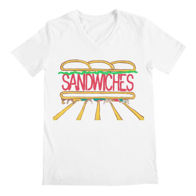 The Last Sandwich Men's V-Neck by Matt MacFarland