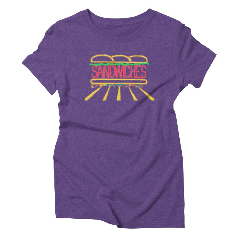 The Last Sandwich Women's Triblend T-Shirt by Matt MacFarland