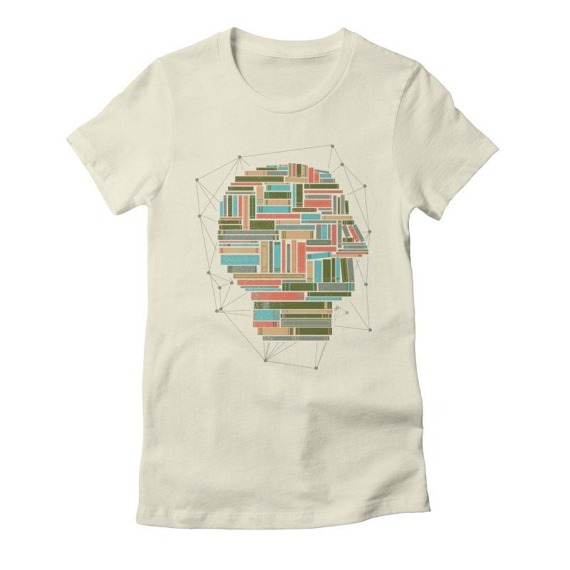 Socially Networked Women's Fitted T-Shirt by Matt Leyen / NiNTH WHEEL