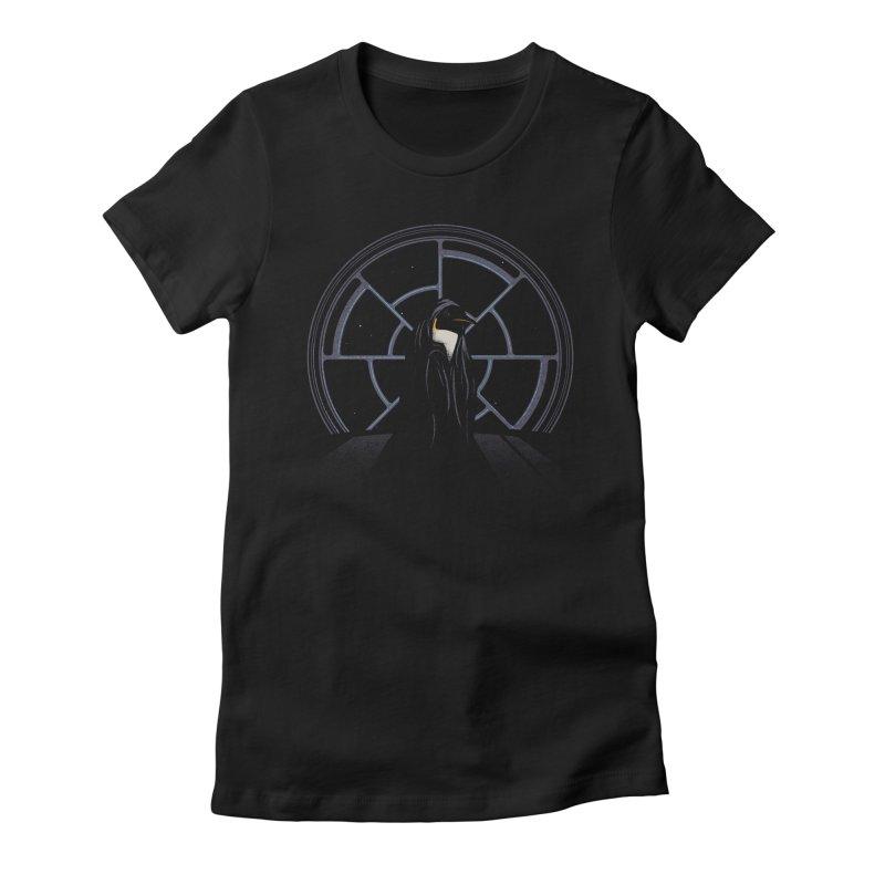 The Emperor Women's Fitted T-Shirt by Matt Leyen / NiNTH WHEEL