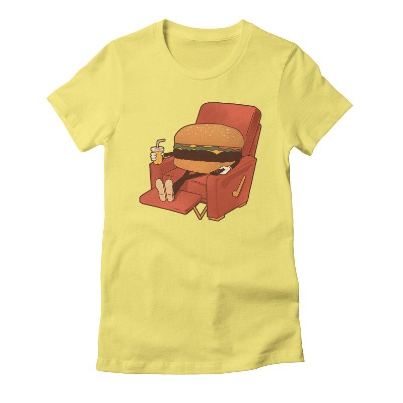 Lunch Break Women's Fitted T-Shirt by Matt Leyen / NiNTH WHEEL