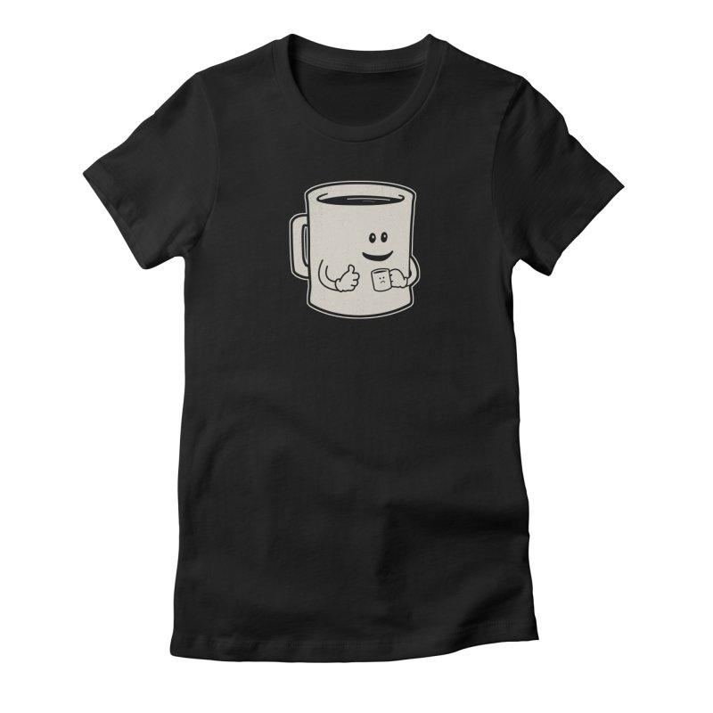 Mugged Women's Fitted T-Shirt by Matt Leyen / NiNTH WHEEL