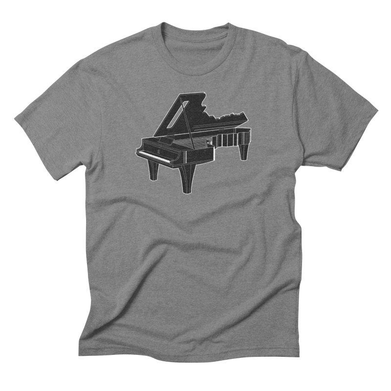 Music is The Key Men's Triblend T-shirt by Matt Leyen / NiNTH WHEEL