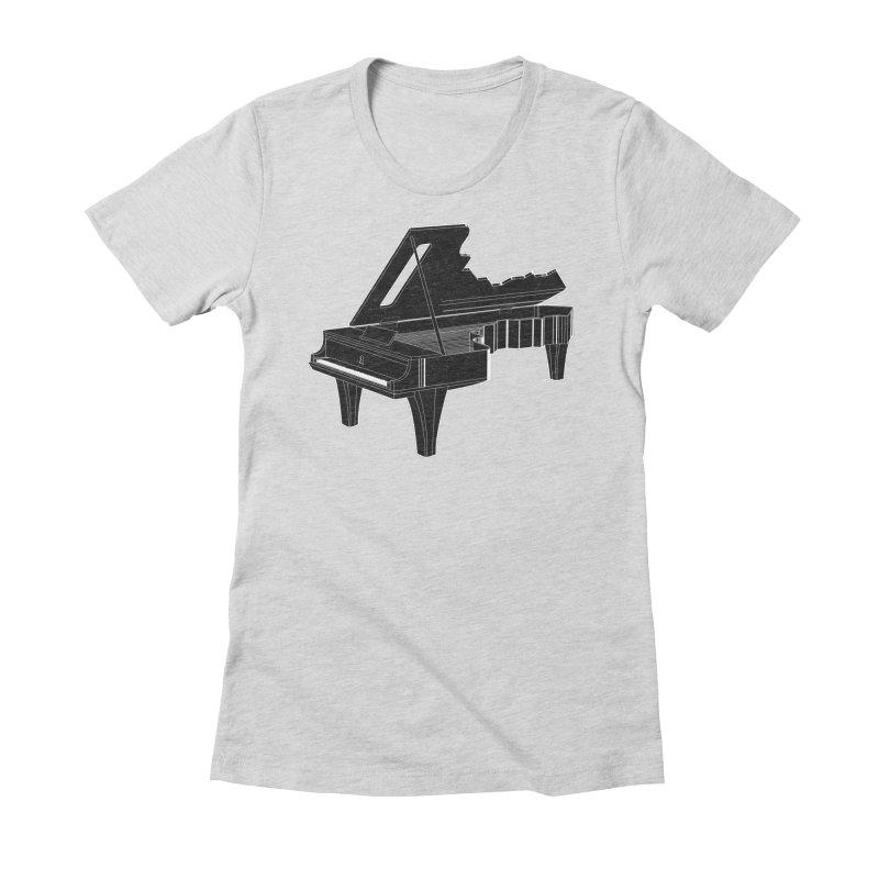 Music is The Key Women's Fitted T-Shirt by Matt Leyen / NiNTH WHEEL