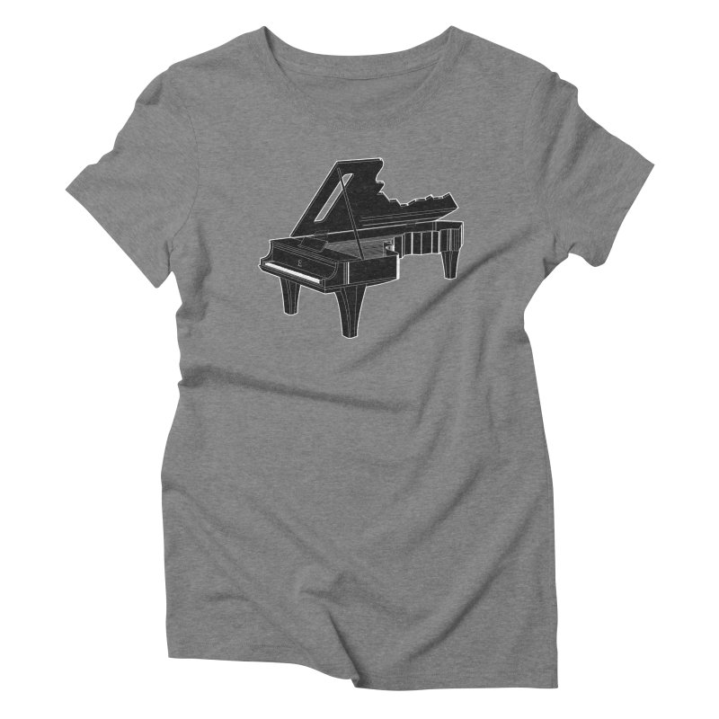 Music is The Key Women's Triblend T-shirt by Matt Leyen / NiNTH WHEEL