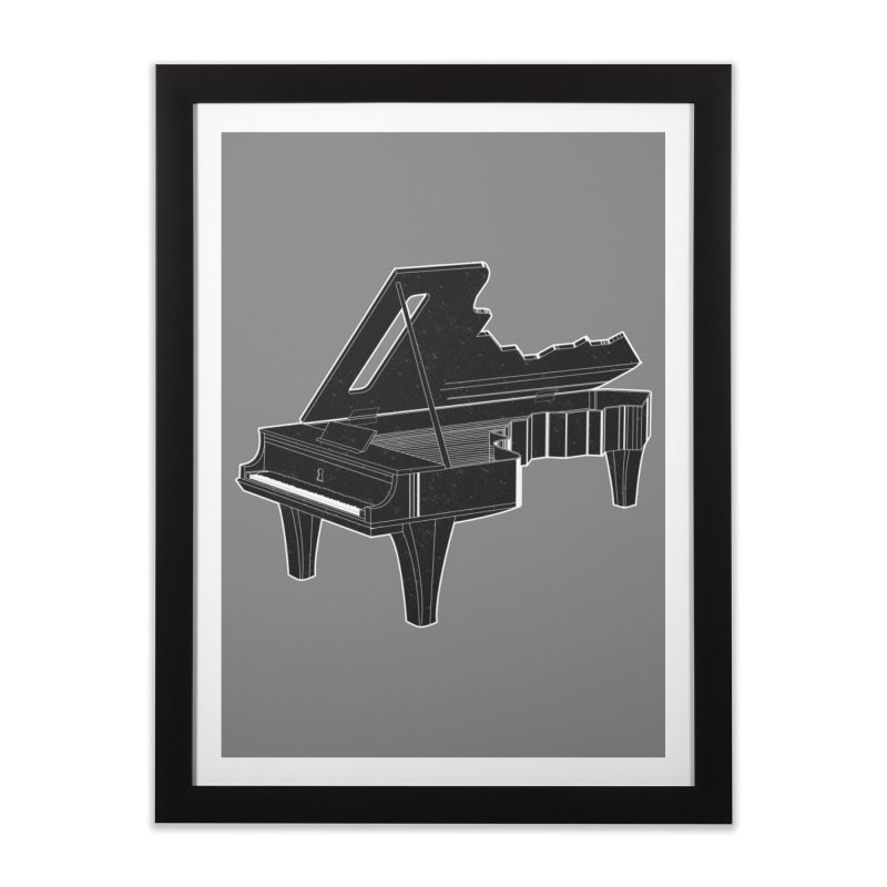 Music is The Key Home Framed Fine Art Print by Matt Leyen / NiNTH WHEEL