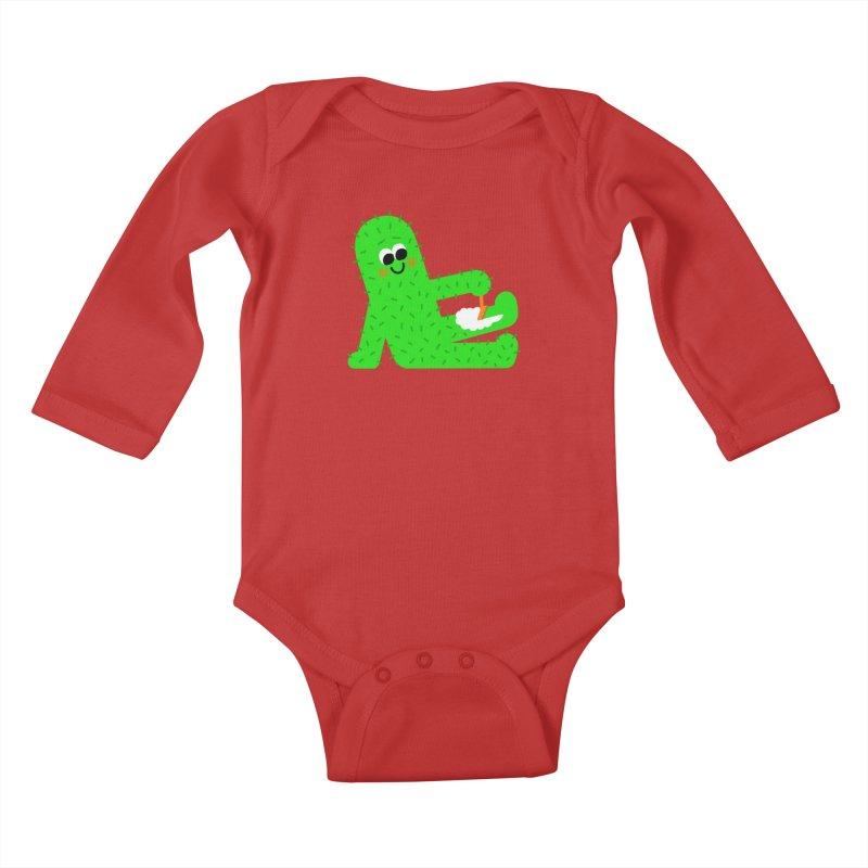 Spiky Legs Kids Baby Longsleeve Bodysuit by Mauro Gatti House of Fun