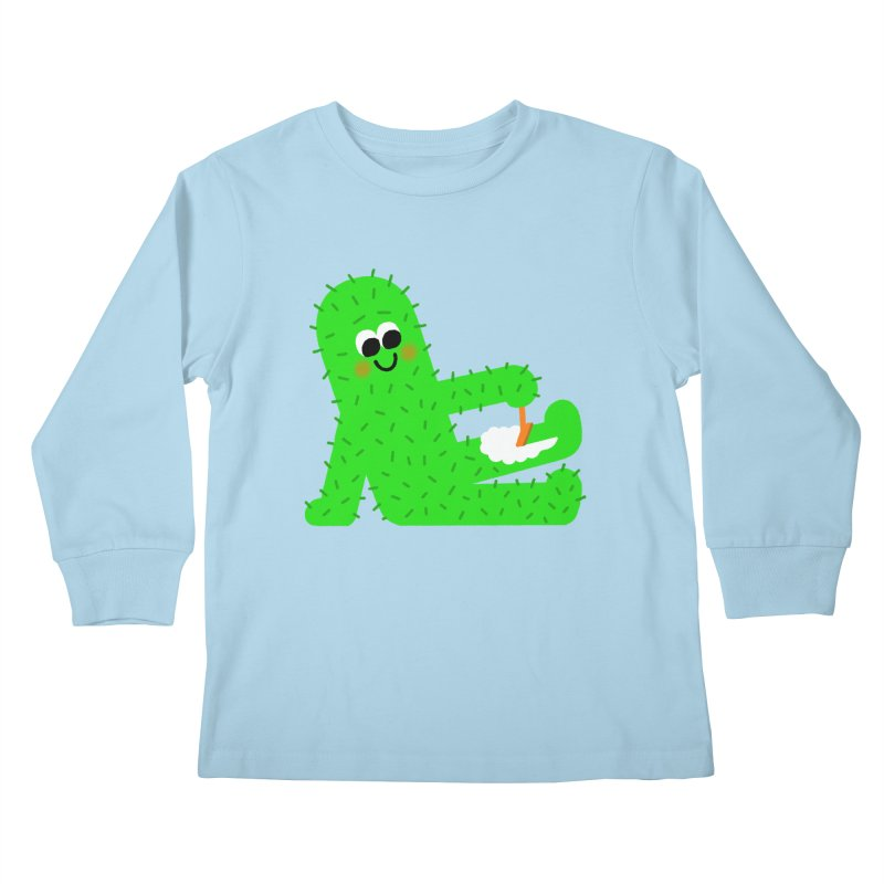 Spiky Legs Kids Longsleeve T-Shirt by Mauro Gatti House of Fun