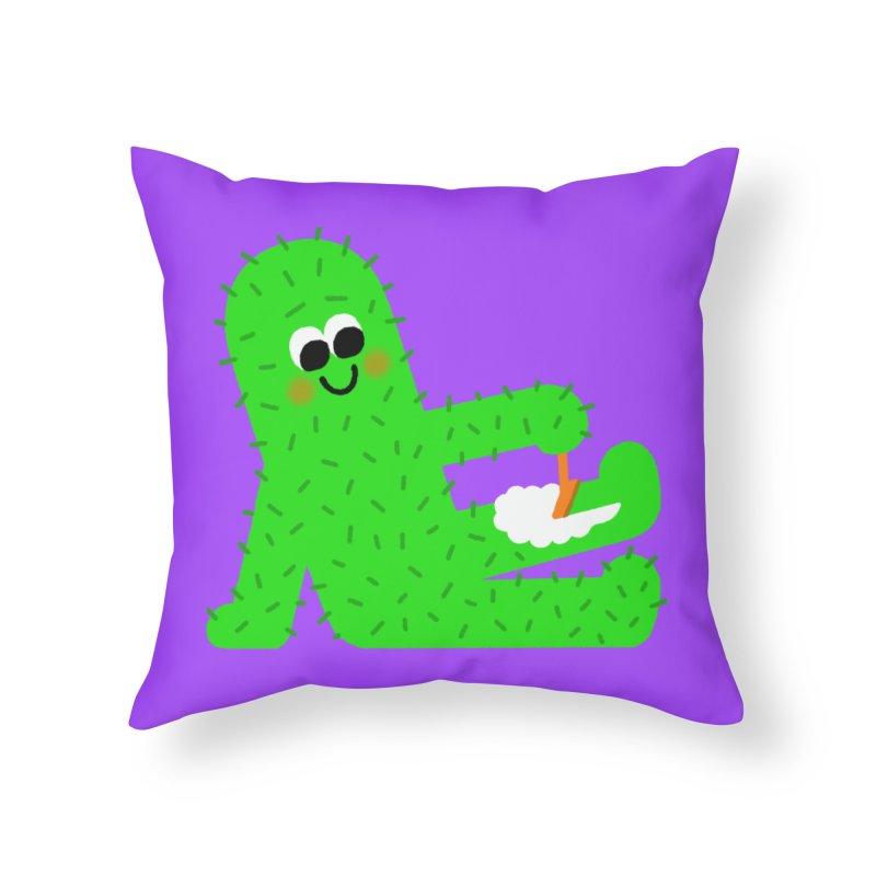 Spiky Legs Home Throw Pillow by Mauro Gatti House of Fun