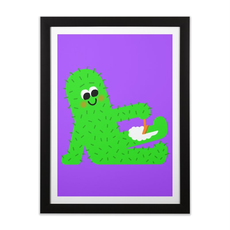 Spiky Legs Home Framed Fine Art Print by Mauro Gatti House of Fun