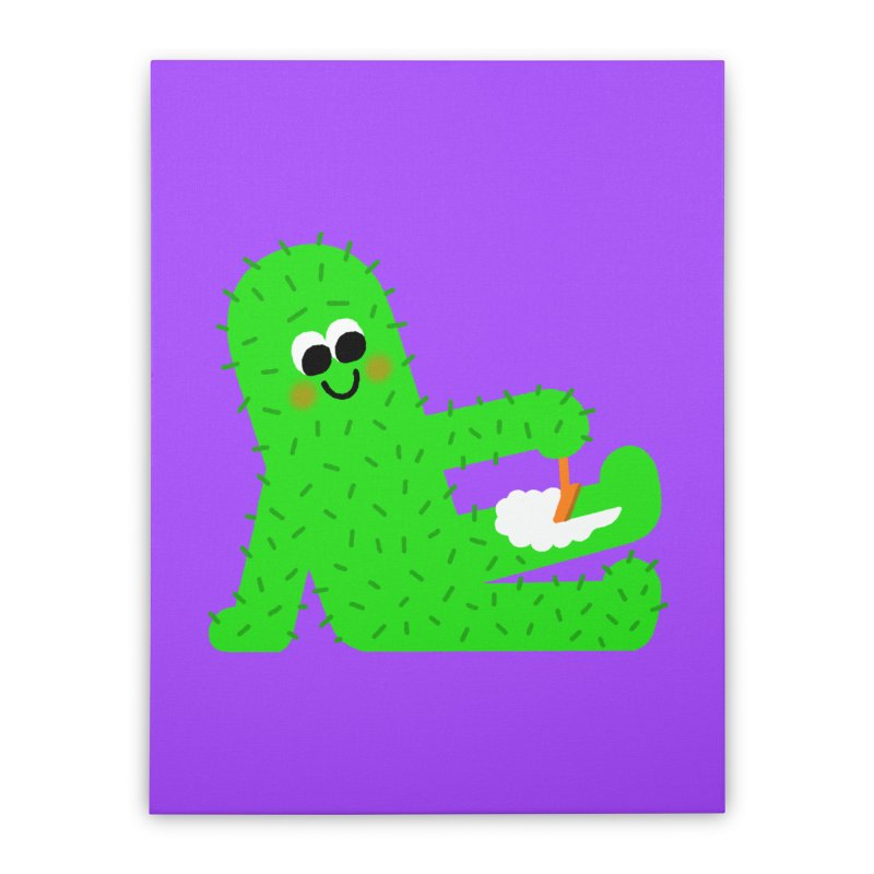 Spiky Legs Home Stretched Canvas by Mauro Gatti House of Fun
