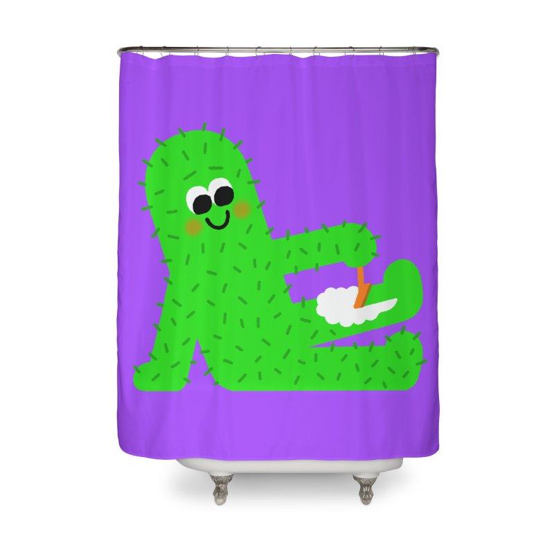 Spiky Legs Home Shower Curtain by Mauro Gatti House of Fun