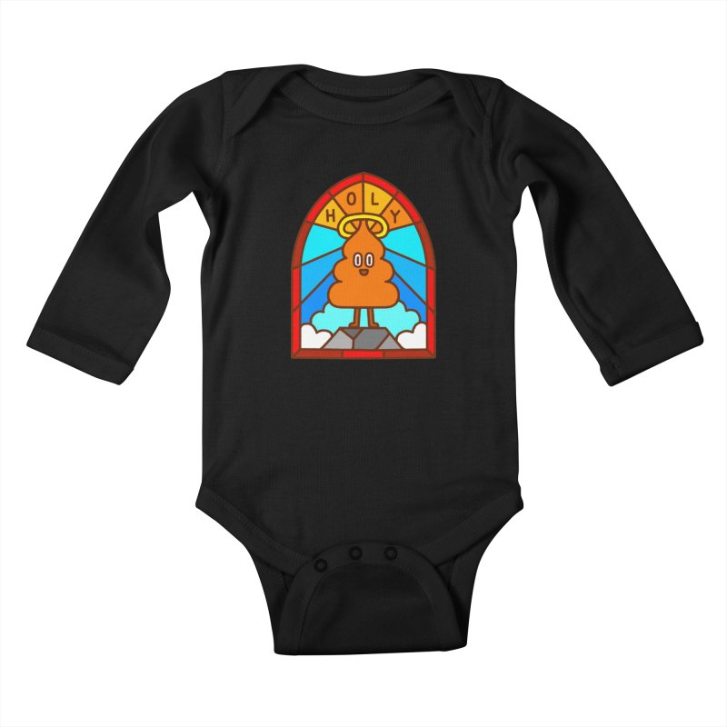 Holy S**t Kids Baby Longsleeve Bodysuit by Mauro Gatti House of Fun