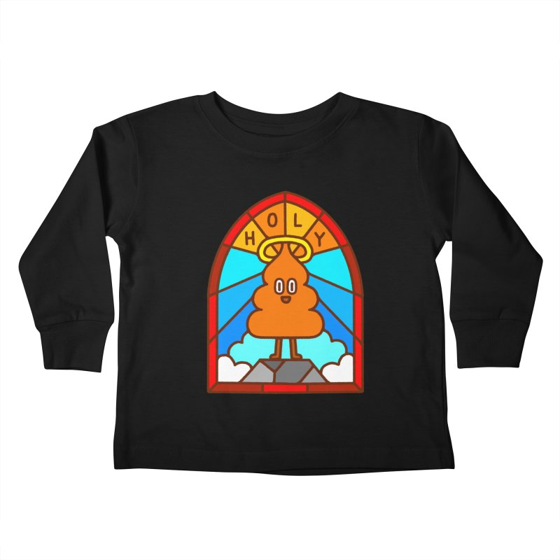 Holy S**t Kids Toddler Longsleeve T-Shirt by Mauro Gatti House of Fun