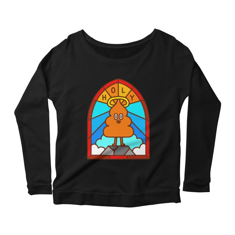 Holy S**t Women's Scoop Neck Longsleeve T-Shirt by Mauro Gatti House of Fun