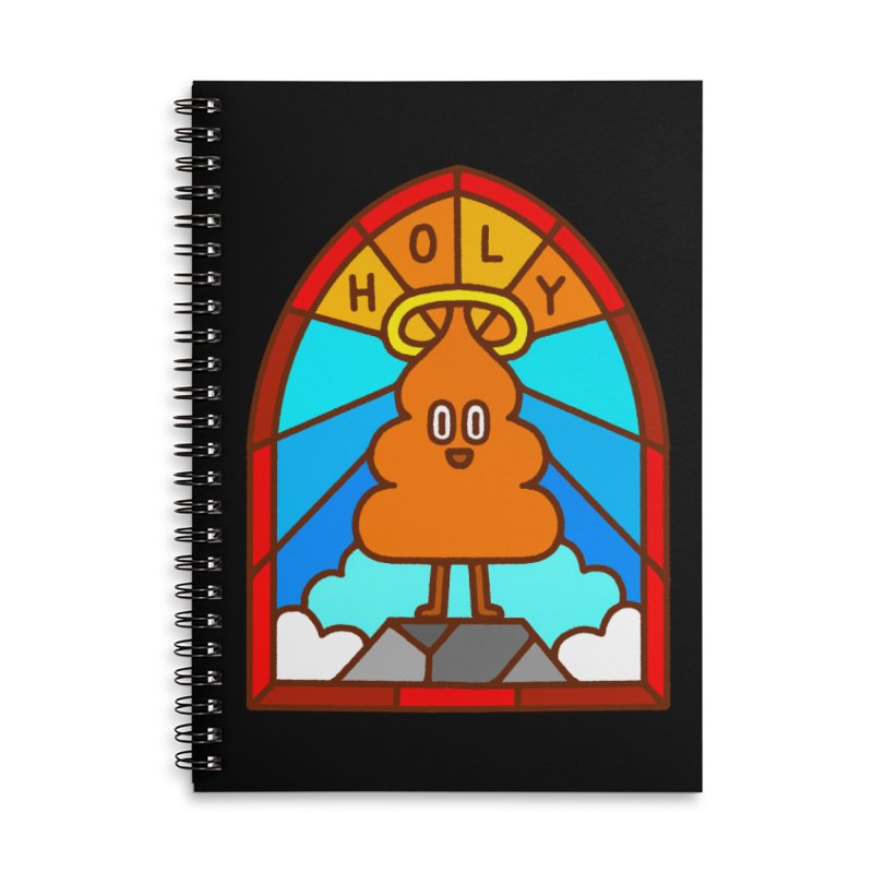 Holy S**t Accessories Lined Spiral Notebook by Mauro Gatti House of Fun