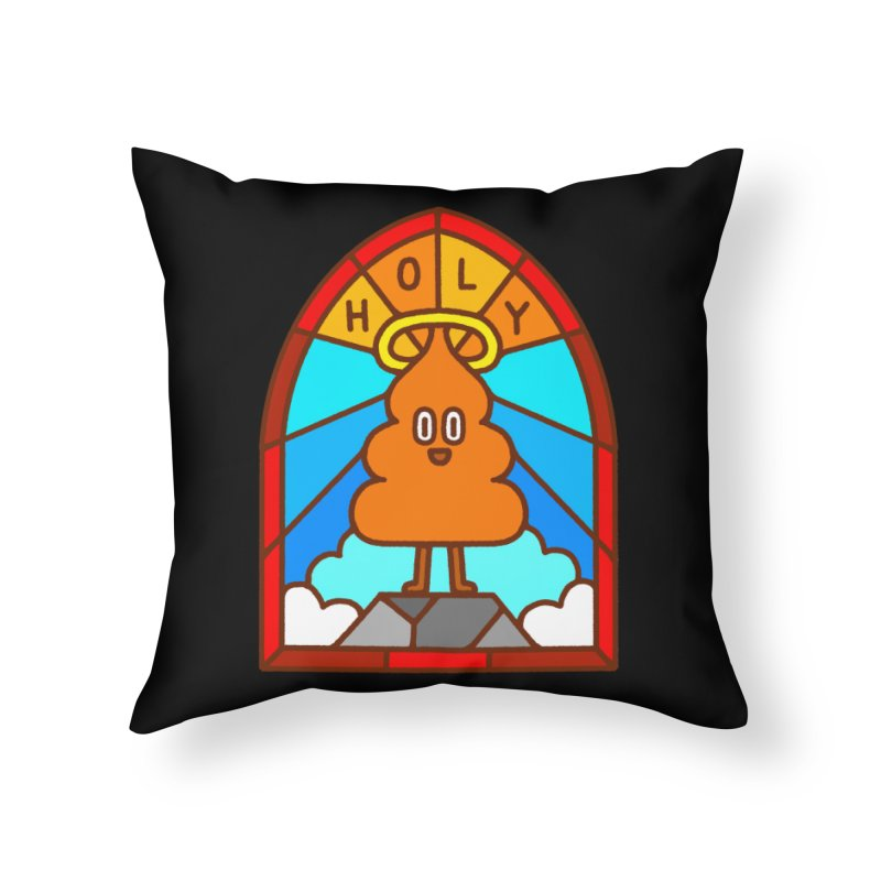 Holy S**t Home Throw Pillow by Mauro Gatti House of Fun
