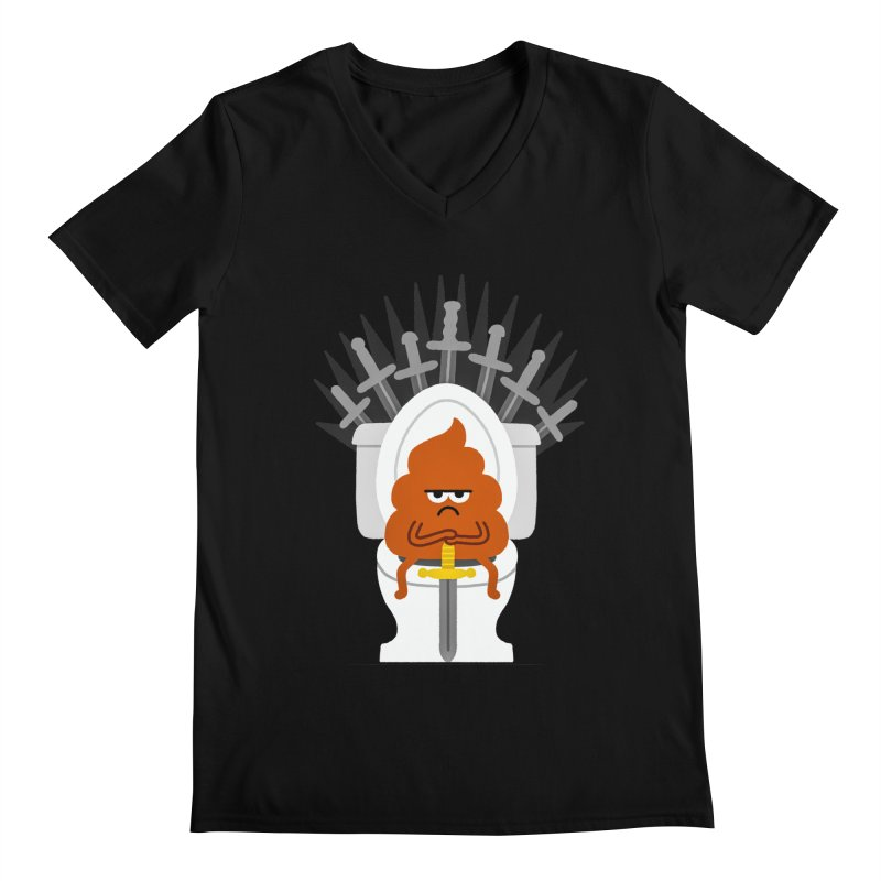 Game Of Toilets Men's V-Neck by Mauro Gatti House of Fun