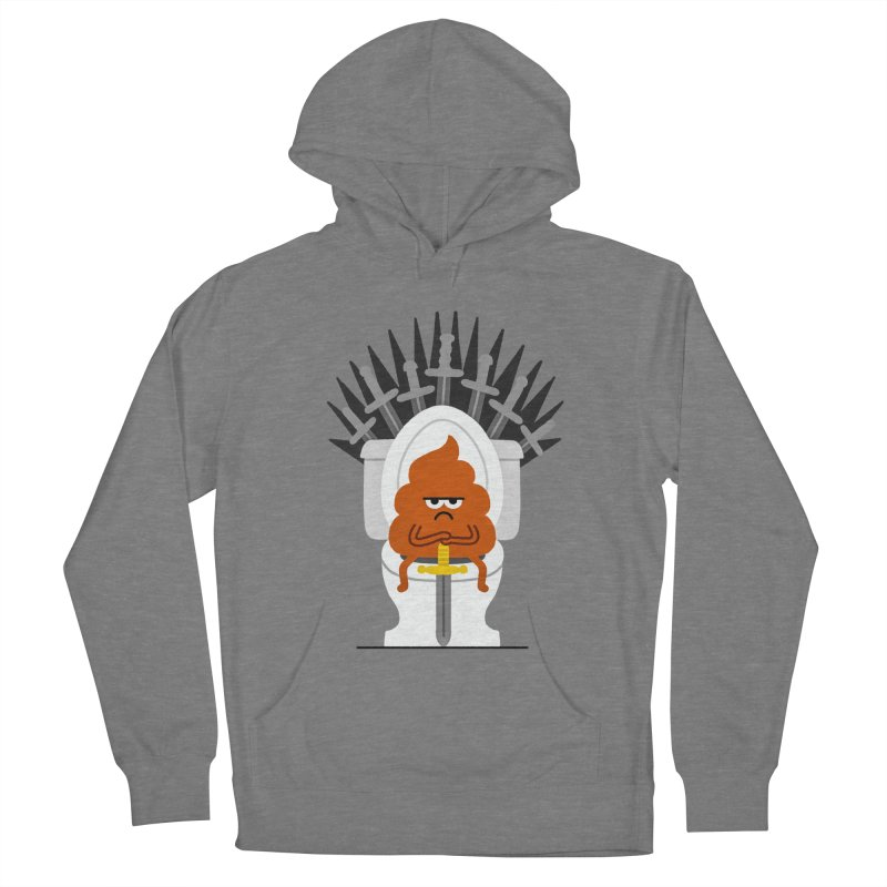 Game Of Toilets Women's French Terry Pullover Hoody by Mauro Gatti House of Fun