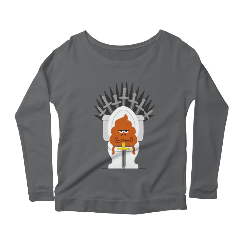 Game Of Toilets Women's Scoop Neck Longsleeve T-Shirt by Mauro Gatti House of Fun
