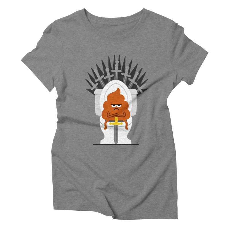 Game Of Toilets Women's Triblend T-Shirt by Mauro Gatti House of Fun