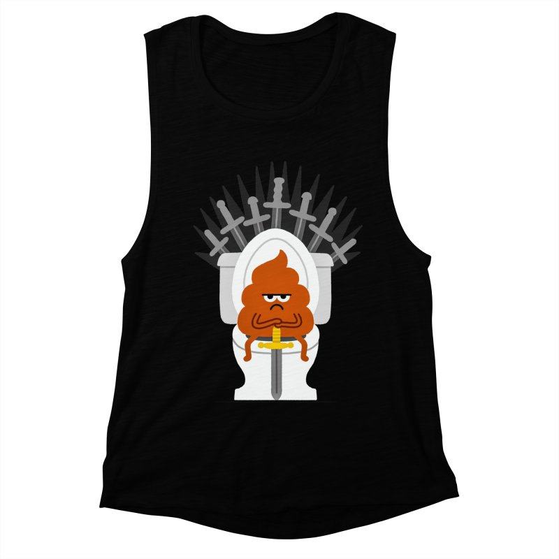 Game Of Toilets Women's Muscle Tank by Mauro Gatti House of Fun