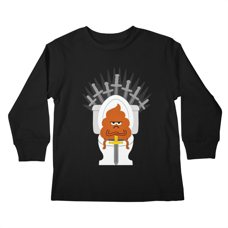 Game Of Toilets Kids Longsleeve T-Shirt by Mauro Gatti House of Fun