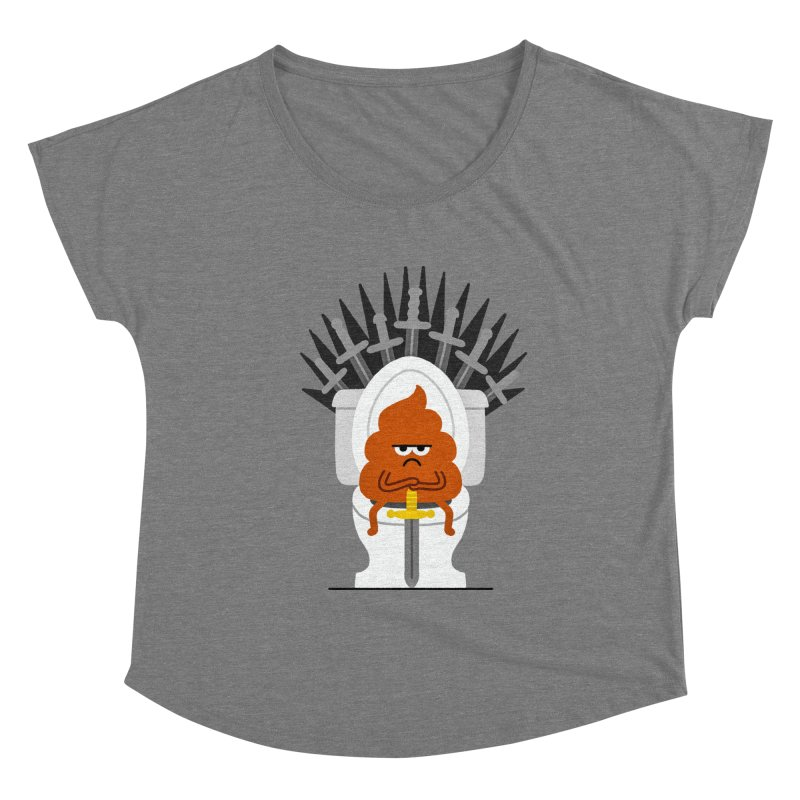 Game Of Toilets Women's Scoop Neck by Mauro Gatti House of Fun
