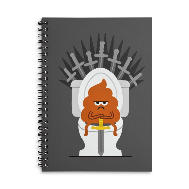 Game Of Toilets Accessories Notebook by Mauro Gatti House of Fun