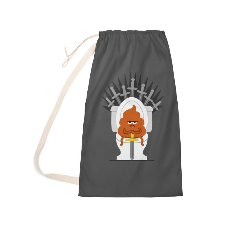 Game Of Toilets Accessories Laundry Bag Bag by Mauro Gatti House of Fun